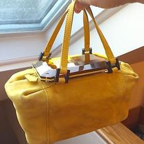 Fendi Yellow Suede Satchel Photo