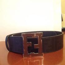 Fendi Zucca College Belt Black sz.85 Photo