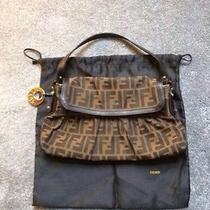 Fendi Zucca Handbag With Gold Plate Photo