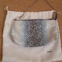 Fendi Zucca Mini Clutch Logo Canvas Evening Bag / Purse Chain Strap  Dust Bag Photo