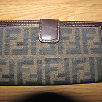 Fendi Zucca Monogram Ff Signature Brown Wallet Photo