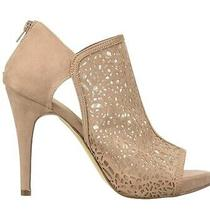 Fergalicious Tara Rosy Blush Peep Toe Heel Pump Hidden Platform Laser Cut Floral Photo
