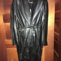 Ferragamo Women Lamb Nappa Black Leather Jacket Size 38 New Italian Msrp 3900 Photo