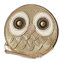 Ffossil Gift Owl Zip Coin Purse Metallic  Photo