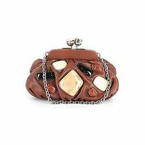 Fifty Four Fossil Women Brown Leather Clutch One Size Photo