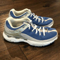 Fila Flow Sanctuary Ii Running Shoes Sneakers Blue & Silver Sz 7 Good Condition Photo
