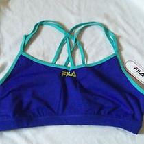 Fila Womens Blue/aqua Performance Sports Bra  Nwt Xl Photo