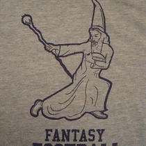 Final Fantasy Football Funny Wizard Magic T Shirt L Photo