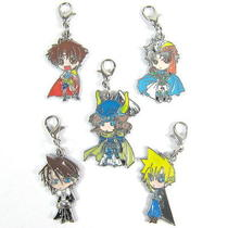 Final Fantasy Vii Anime Characters 5 Pcs Pendants Set 32116 Photo