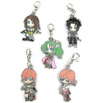 Final Fantasy Vii Anime Characters 5 Pcs Pendants Set 32117 Photo