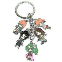 Final Fantasy Vii Anime Characters 5 Pendants Key Chain 32113 Photo