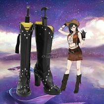 Final Fantasy Vii Remake Tifa Lockhart Cosplay Shoes Women Rivet Boots Black Photo