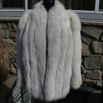Final Sale Beautiful Snow Spotted Lynx Dyed Blush Fox Fur Jacket Coat Photo