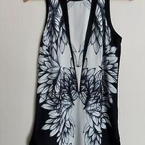 Finders Keepers Black and White Sleeveless Dress Size Xs Photo