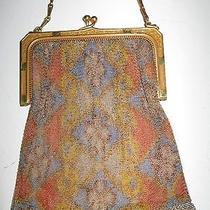 Fine Art Deco Whiting and Davis Mesh Bag Purse Ornate Frame Vintage Photo
