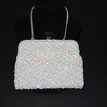 Fine Arts Bag Ny by Dikran White Motherofpearl Sequin Purse / Handbag Photo
