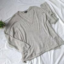 Fine Merino Collection Lane Bryant Gray Silver Sparkle Sweater Size 26 / 28 Photo
