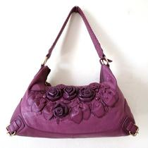 Fiore by Isabella Fiore Plum Forget Me Not Leather Audra Hobo 325 Exquisite Photo
