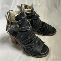 Firebird by Steven Booties Black Leather Size 8 Photo