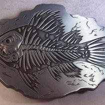 Fish Fossil Bones New Belt Buckle A73 Photo