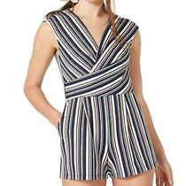 Fishbowl Romper Navy Blue Blush Size Xs Junior's Striped Surplice 39 532 Photo