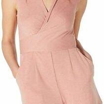 Fishbowl Women's Romper Blush Pink Size Xl Faux Wrap Keyhole Back 39 239 Photo