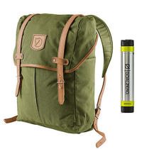 Fjallraven No. 21 Md Rucksack Green - With Free Portable Usb Charger Photo
