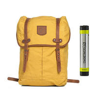 Fjallraven No. 21 Md Rucksack Ochre - With Free Portable Usb Charger Photo