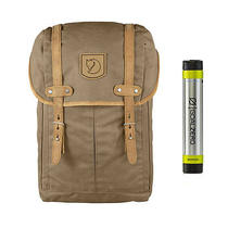 Fjallraven No. 21 Md Rucksack Sand - With Free Portable Usb Charger Photo