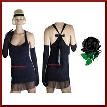 Flapper 1920's Chicago Gangster's Moll Fancy Dress Costume - L / 12-14 Photo