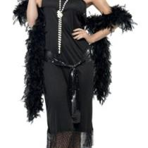 Flapper Dress 1920's Black Fancy Dress All Sizes Clearance Photo