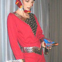 Flash Gordon Helmet Ray Gun Belt Anklets Gauntlet Fantasy Mork Space Man Sm/m Photo