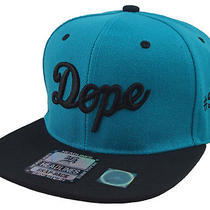 Flat Bill Snapback Cap Hip Hop Hat Aqua/black New Vintage Dope 3d Embroidery  Photo