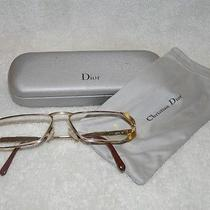 Flat Luxurious Red Golden Eyeglasses by Christian Dior Photo