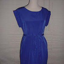 Flattering Gap Blouson Dress Violet Purple Belted Work Career Pockets Sz Xs Photo