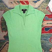 Flawed Express 100% Cashmere Sz M Bright Green Cap Sleeves Photo