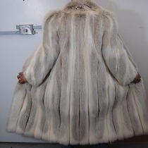 Flawless Finest Quality White Blush Fox Fur Coat Size 4-6 Value 7k Perfect Cond Photo