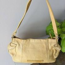 Flaws Fossil Yellow Shoulder Bag Pebbled Leather Purse Smaller Size Wide  Photo