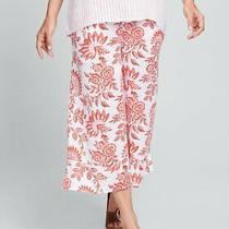 Flax Designs  Linen Bloom Pants  S  &  M  &  L  Nwt  Papaya  Floral Photo