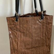 Fleebags Oilcloth Tote Purse Book Bag Gym Yoga Beach Market Wooodgrain Brown Rwd Photo