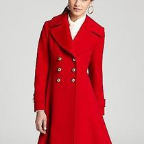Fleurette Double Breasted Wool Princess Coat Loro Piano 10 Apple Red Nwt Photo