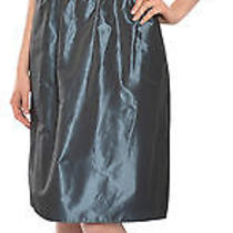 Flirty Amsale Strapless Silk Taffeta Party Dress 6 New Photo