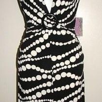 Flirty Xoxo Buckle & Dot Chain Dress Szm Nwt Photo