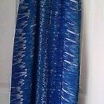 Floaty Summer Maxi Dress Blue White Straps M Elasticated Waist Lined. Photo