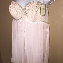 Flora Nikrooz Large Pink Babydoll Nightie Chemise Nwt 44 L Womans Gift Sexy Wow Photo