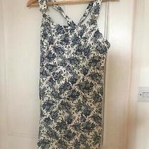 Floral Denim Dungaree Dress Urban Outfitters Medium Photo