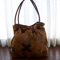 Floral Flower Hobo Purse Soft Brown Handbag Tote Photo