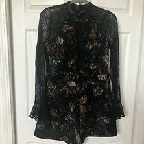 Floral Lace Long Sleeve Guess Romper Size Large Photo