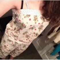 Floral Pjs Strap Top and 3/4 Trousers Size S Photo