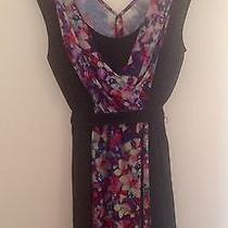 Floral Print  Black Summer Dress Express Women's Medium  Photo